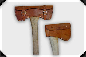 custom leather axe covers
