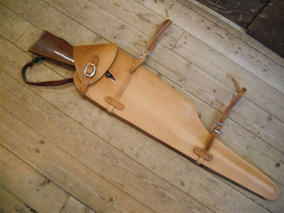 custom leather gun scabbard